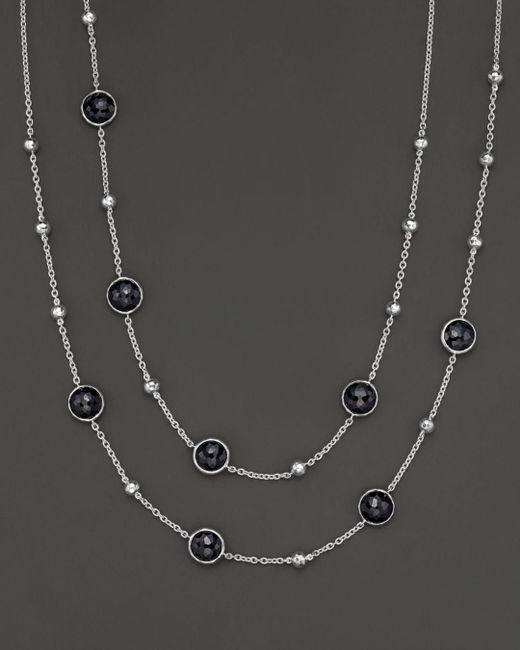 Ippolita - Metallic Sterling Silver Rock Candy Mini Lollipop And Ball Necklace In Black Onyx - Lyst