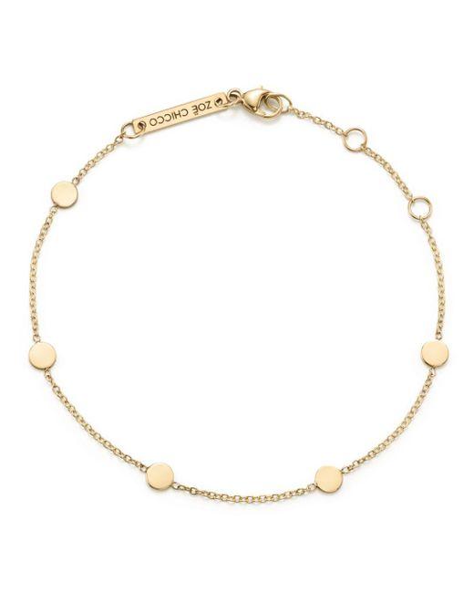 Zoe Chicco - Metallic 14k Yellow Gold Itty Bitty Disc Bracelet - Lyst