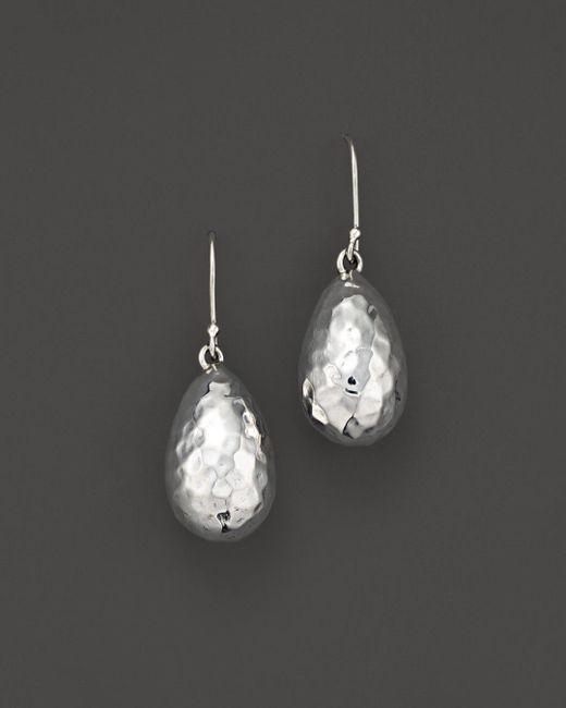 Ippolita - White Sterling Silver Glamazon® Medium Raindrop Bead Earrings - Lyst