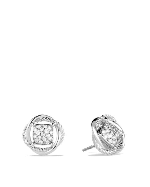David Yurman   Metallic Infinity Earrings With Diamonds   Lyst