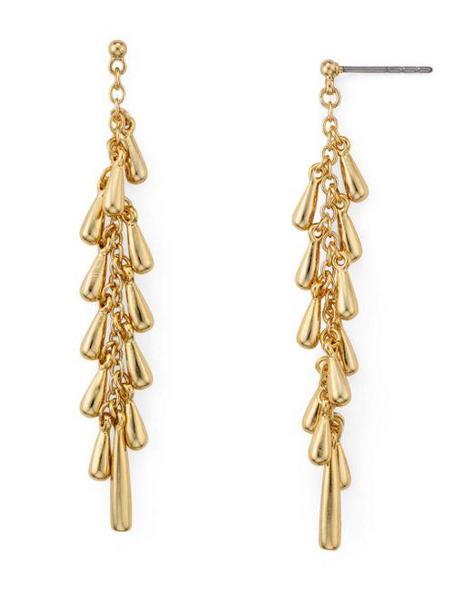 Rebecca Minkoff - Metallic Teardrop Cluster Linear Drop Earrings - Lyst