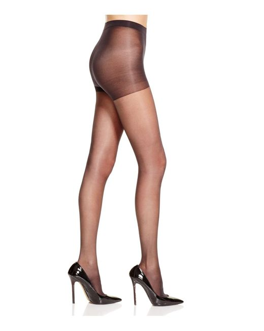 Hue - Black Age Defiance Sheer Control Top Tights - Lyst