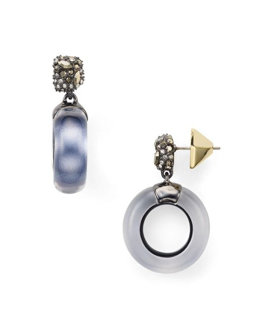 Alexis Bittar | Metallic Domed Drop Circle Earrings | Lyst