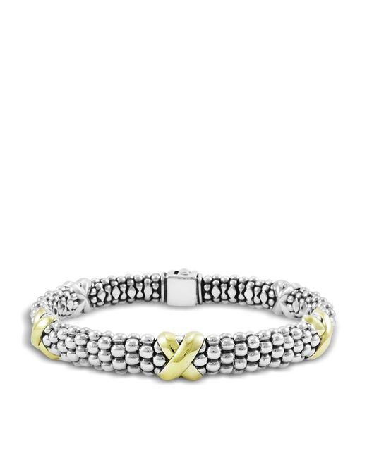 Lagos | Metallic 'signature Caviar' Oval Rope Bracelet | Lyst