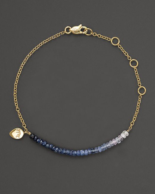 Meira T - Multicolor Blue Sapphire And 14k Yellow Gold Bracelet - Lyst