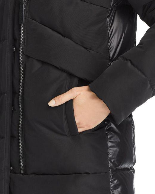3c7aff368eb4 ... 10 Crosby Derek Lam - Black Hooded Fox Fur Trim Mixed Media Down Coat -  Lyst ...