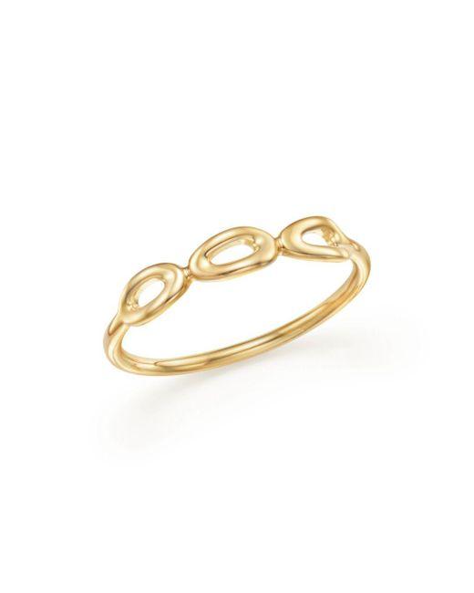 Ippolita - Metallic 18k Yellow Gold Cherish Mini Triple Link Midi Ring - Lyst