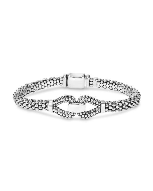 Lagos | Metallic Sterling Silver Derby Caviar Bracelet | Lyst