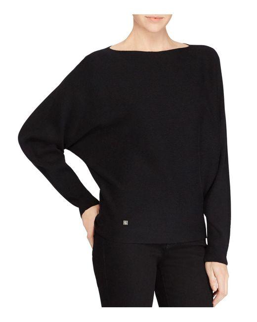 Ralph Lauren | Black Lauren Dolman Sleeve Sweater | Lyst