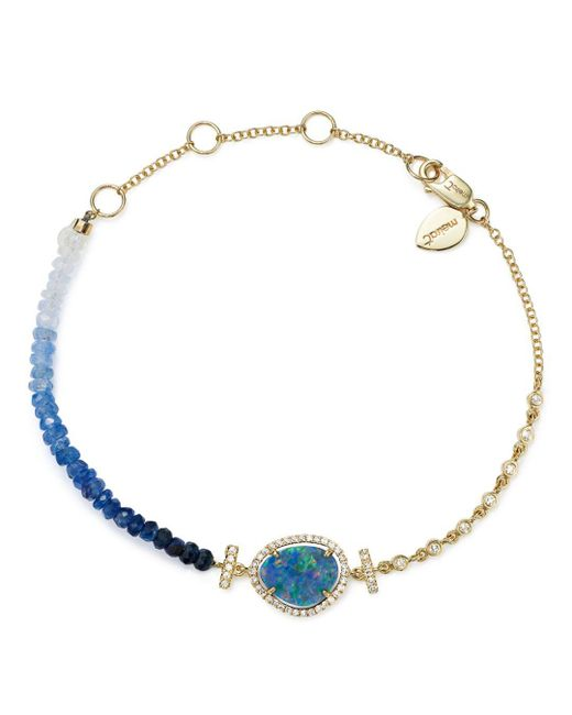 Meira T - 14k Yellow Gold Opal & Blue Sapphire Bead Bracelet - Lyst