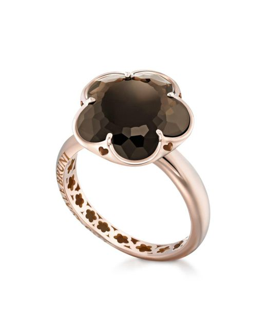 Pasquale Bruni - Multicolor 18k Rose Gold Floral Smoky Quartz Ring - Lyst