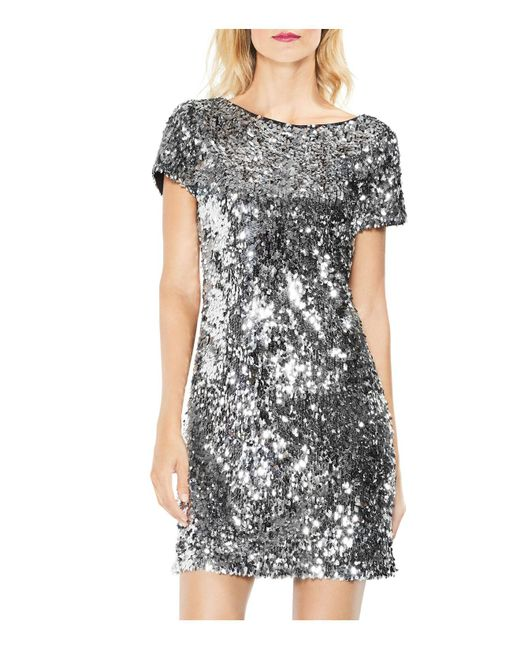 Vince Camuto | Multicolor Sequined Shift Dress | Lyst