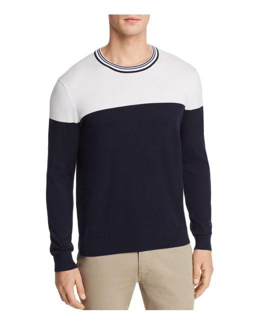 Michael Kors - Blue Color-block Crewneck Sweater for Men - Lyst