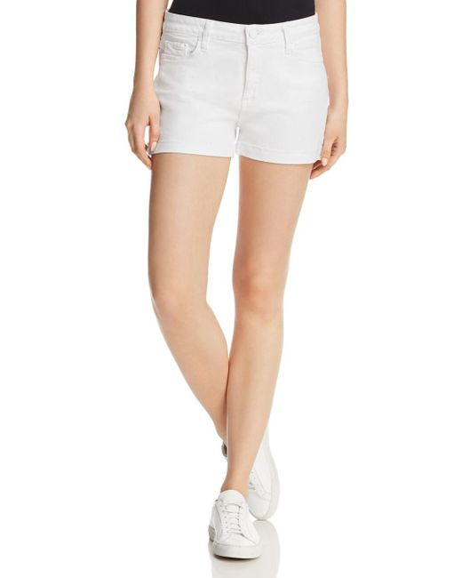 PAIGE - Jimmy Jimmy Denim Shorts In Crisp White - Lyst