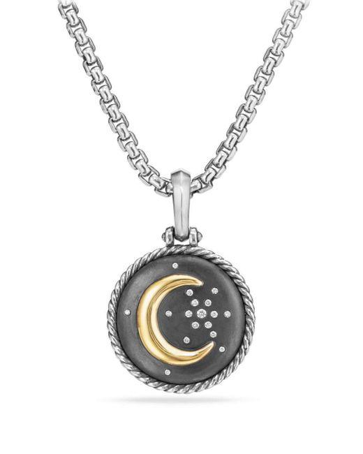 David Yurman - Metallic Moon & Star Amulet With Diamonds & 18k Gold - Lyst