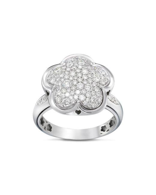Pasquale Bruni - 18k White Gold Floral Pavé Diamond Ring - Lyst