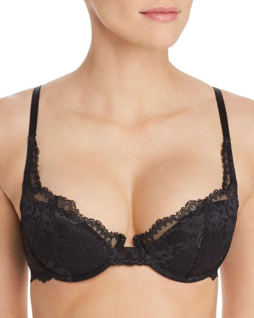 Natori - Black Devotion Lace Contour Underwire Bra - Lyst