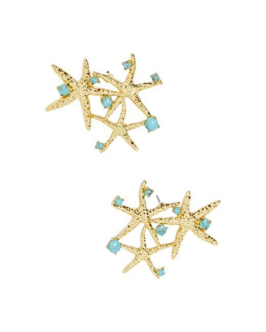 BaubleBar - Multicolor Syvota Starfish Cluster Stud Earrings - Lyst