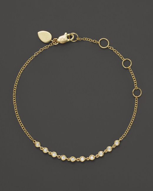Meira T - Metallic 14k Yellow Gold Diamond Bezel Bracelet - Lyst