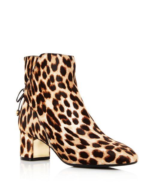 Tory Burch - Brown Laila Leopard Print Calf Hair Booties - Lyst