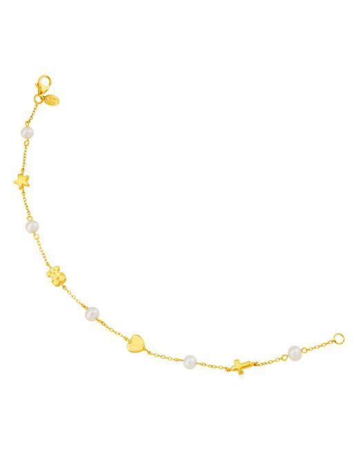 Tous - Metallic Cultured Freshwater Pearl Station Bracelet - Lyst