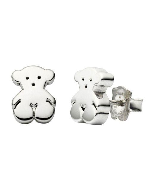 Tous - Metallic Bear Stud Earrings - Lyst