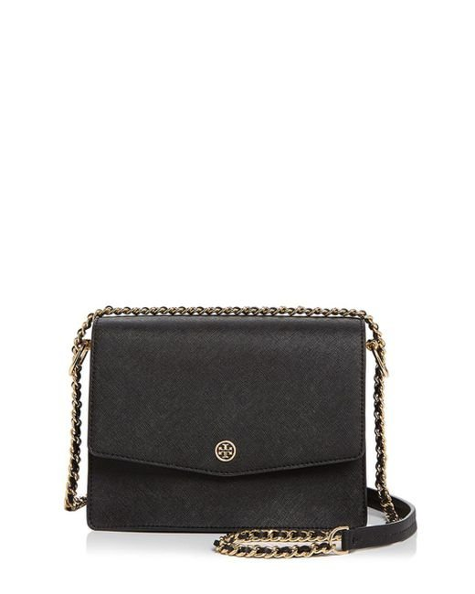 Tory Burch - Black Robinson Convertible Leather Shoulder Bag - Lyst