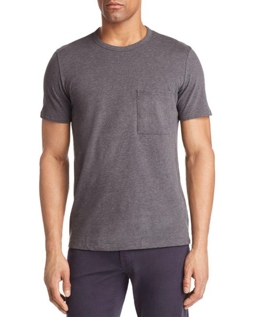 Theory - Gray Essential Pocket Tee for Men - Lyst