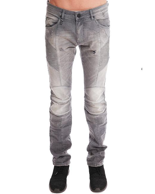Balmain | Gray Light Grey Jeans | Lyst