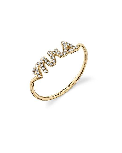 Sydney Evan - Metallic Mrs. Pavé Diamond Ring - Lyst