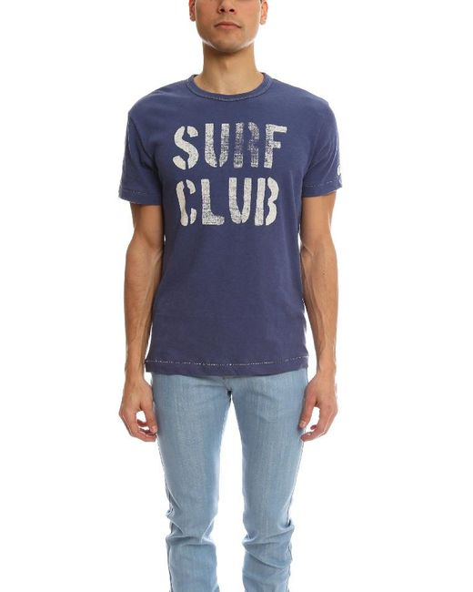 Todd Snyder - Blue Surf Club Royal T-shirt for Men - Lyst