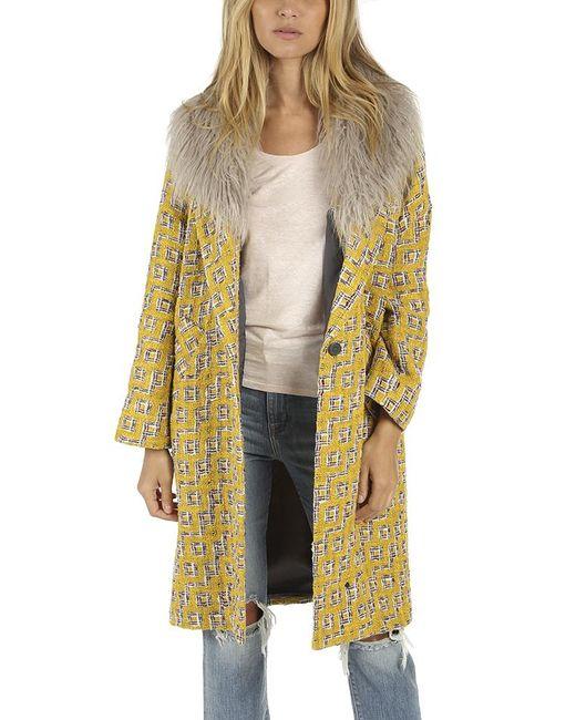 Smythe - Yellow Midi Louche Coat - Lyst