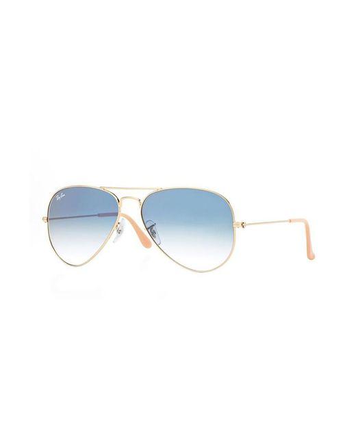 Ray-Ban - Metallic Large Metal Aviator Sunglasses - Lyst
