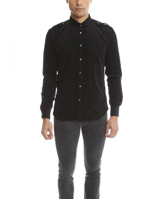 Simon Spurr - Black Courdoroy Army Shirt for Men - Lyst
