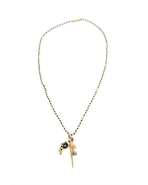 Chan Luu - Metallic Nickel Onyx Gold Dagger Pendant Necklace - Lyst
