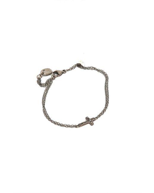 Chan Luu | Blue Silver Diamond Cross Bracelet | Lyst