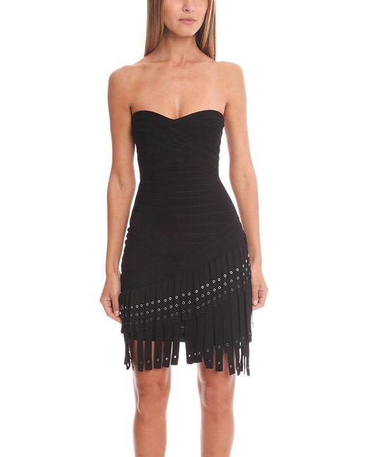 Hervé Léger | Black Belina Knit Cocktail Dress | Lyst