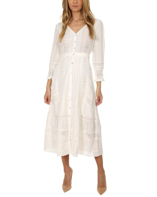 LoveShackFancy - White Desert Victorian Maxi Dress - Lyst