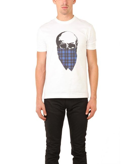 Markus Lupfer | White Tartan Skull T Shirt for Men | Lyst