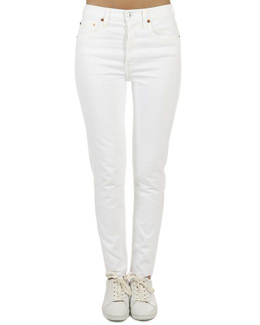 Re/done - White Originals High Rise Ankle Crop Jean - Lyst
