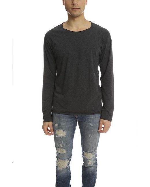 Lucien Pellat Finet - Lucien Pellat Finet T Shirt Ls Leaf Grey/black for Men - Lyst