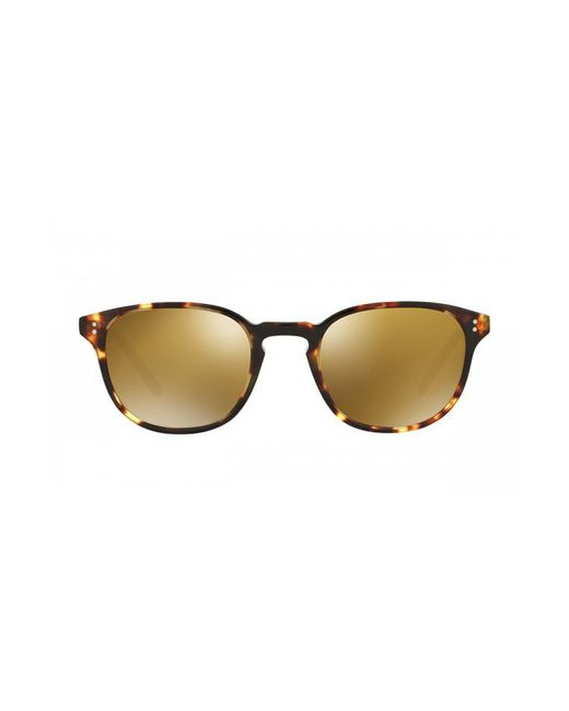 Oliver Peoples - Metallic Fairmont Sun Gold Mirror - Lyst