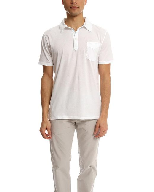 Officine Generale | White Polo Ss Ultra Light Jersey for Men | Lyst