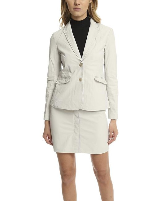 ATM - White Atm Leather Schoolboy Blazer - Lyst