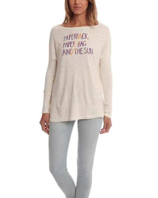Via Spare - White Long Sleeve Scoop Top - Lyst