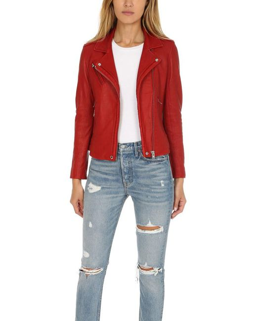 IRO - Red Han Jacket Ruby - Lyst