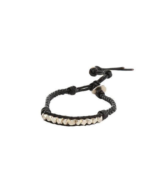 Chan Luu | Silver Nugget Black Leather Bracelet | Lyst
