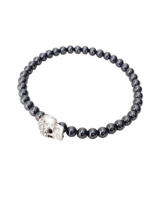 Duchess Of Malfi - Metallic Skull Bead Bracelet - Lyst