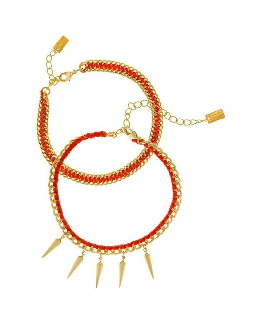 Chan Luu - Orange Friendship Bracelet - Lyst