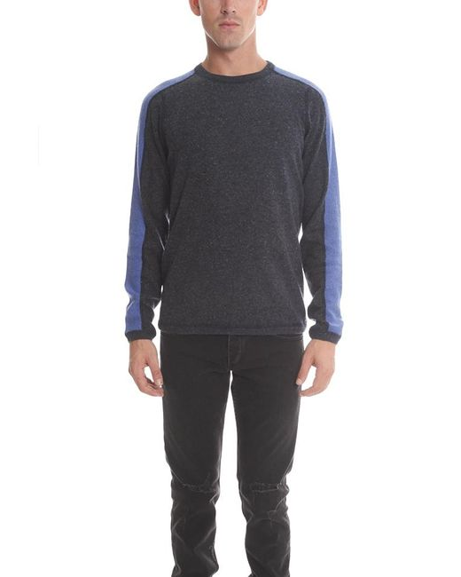 Blue&Cream | Blue Cashmere Honeycomb Panel Crew for Men | Lyst